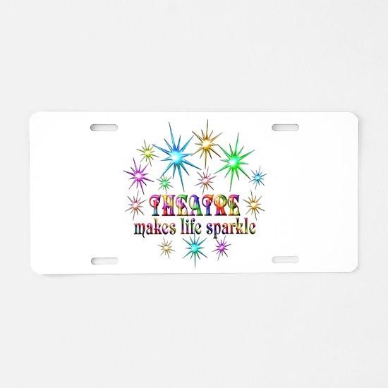 Theatre Sparkles Aluminum License Plate