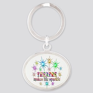 Theatre Sparkles Oval Keychain