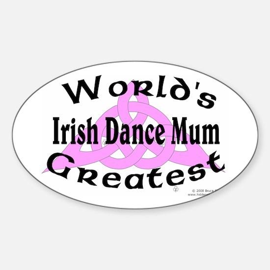 Greatest Mum - Oval Decal