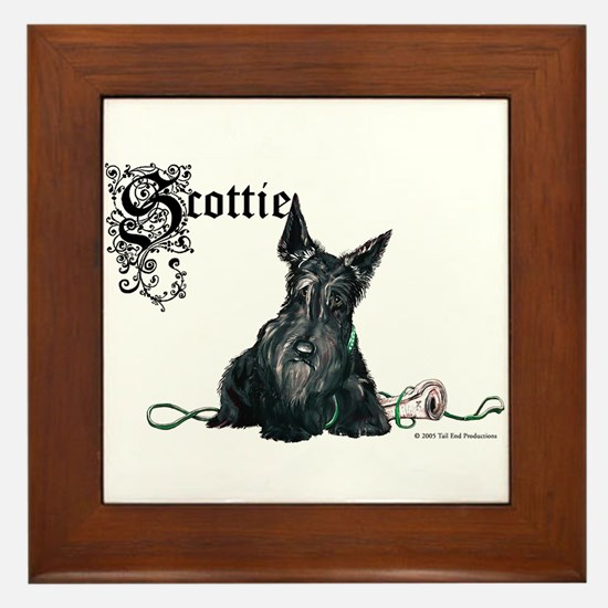 Celtic Scottish Terrier Framed Tile