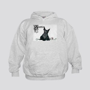 Celtic Scottish Terrier Kids Hoodie