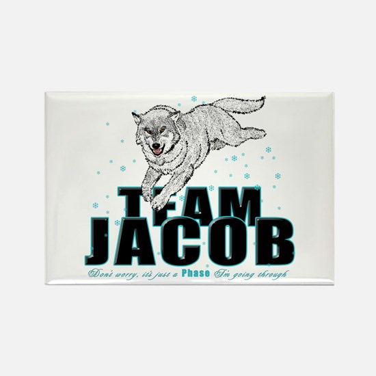 Wolf Jacob Rectangle Magnet