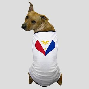 Filipino Heart Flag Dog T-Shirt