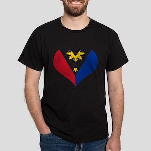 Filipino Heart Flag Dark T-Shirt