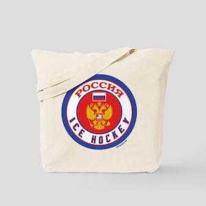 RU Russia/Rossiya Hockey Tote Bag