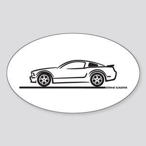 2010 Ford Mustang GT Oval Sticker