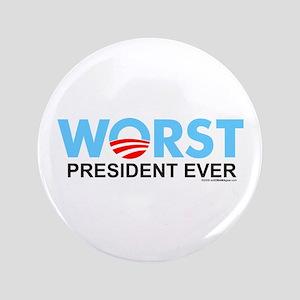 "Worst President Ever 3.5"" Button"