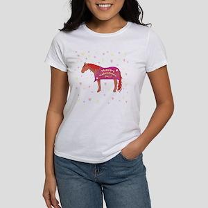 Happy Valentine Horse Women's T-Shirt