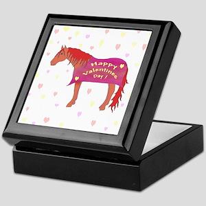 Happy Valentine Horse Keepsake Box
