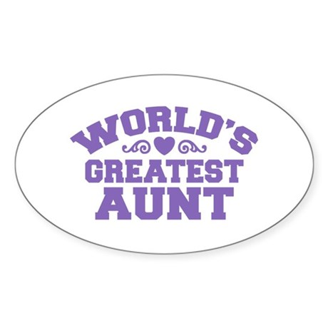 World's Greatest Aunt Oval Sticker