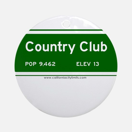 Country Club Ornament (Round)