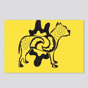 Yellow Tattoo Pit2 Postcards (Package of 8)