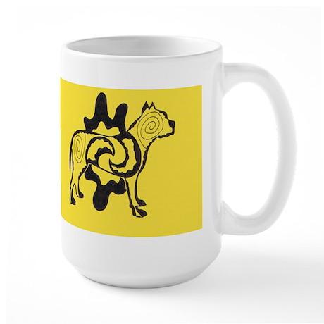 Yellow Tattoo Pit2 Large Mug