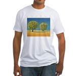Olive Trees Fitted T-Shirt