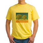 Olive Trees Yellow T-Shirt