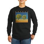 Olive Trees Long Sleeve Dark T-Shirt