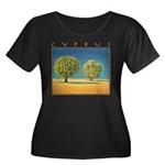 Olive Trees Women's Plus Size Scoop Neck Dark T-Sh