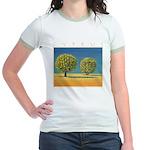 Olive Trees Jr. Ringer T-Shirt