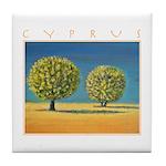 Olive Trees Tile Coaster