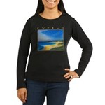 Golden Beach Women's Long Sleeve Dark T-Shirt