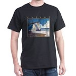 Aphrodite's Rocks, moonlight - Cyprus Dark T-Shirt
