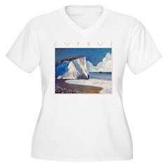 Aphrodite's Rocks, moonlight - Cyprus T-Shirt