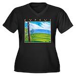 Troodos Pine Women's Plus Size V-Neck Dark T-Shirt