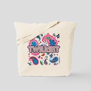 Twilight Retro Paisley Tote Bag