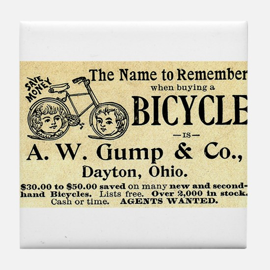 Funny Antique bicycle Tile Coaster