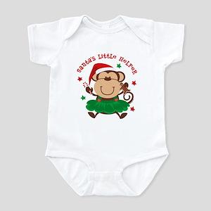 Monkey Girl Santa's Helper Infant Bodysuit