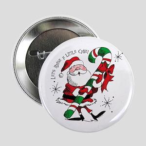 """Santa Raising Cane 2.25"""" Button"""