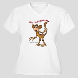 Jabu Women's Plus Size V-Neck T-Shirt
