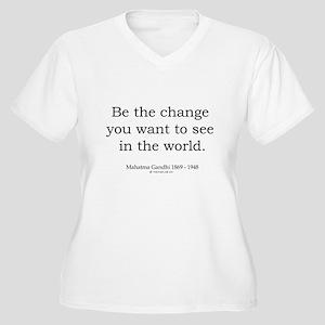 Mahatma Gandhi 5 Women's Plus Size V-Neck T-Shirt