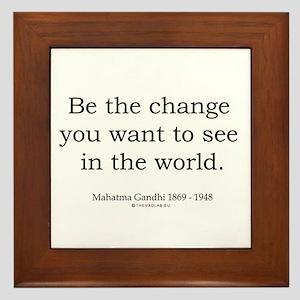 Mahatma Gandhi 5 Framed Tile