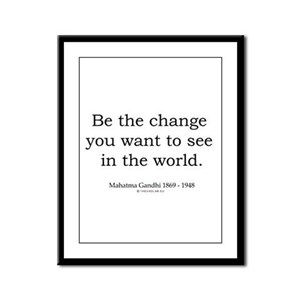 Mahatma Gandhi 5 Framed Panel Print