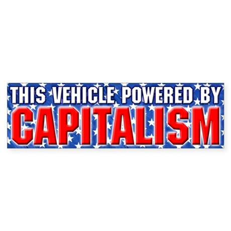 Power By Capitalism (Bumper Sticker)