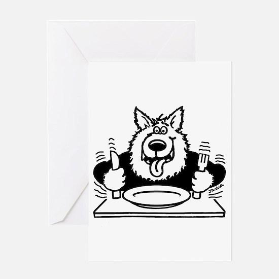 Hungry dog Greeting Card