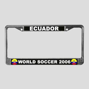 Ecuador World Cup Soccer License Plate Frame