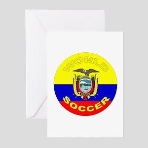 Ecuador World Cup Soccer Greeting Cards (10 Pk)