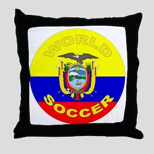 Ecuador World Cup Soccer Throw Pillow