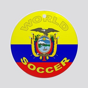Ecuador World Cup Soccer Ornament (Round)