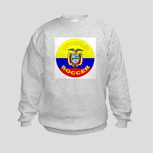 Ecuador World Cup Soccer Kids Sweatshirt