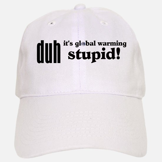 Duh, IT'S GLOBAL WARMING STUPID! Baseball Baseball Cap