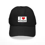 I Love Minnesota Black Cap