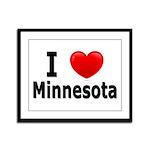 I Love Minnesota Framed Panel Print