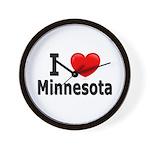 I Love Minnesota Wall Clock