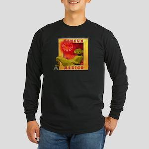Cancun Long Sleeve Dark T-Shirt