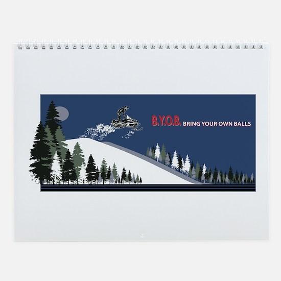 Unique Sledding Wall Calendar