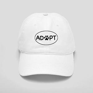 Adopt White Oval Cap