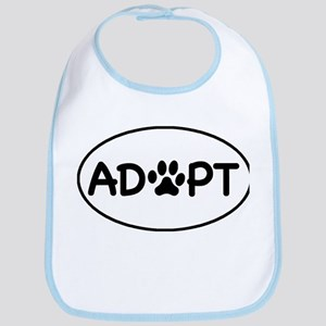 Adopt White Oval Bib